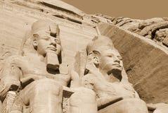 Les temples d'Abu Simbel Image libre de droits