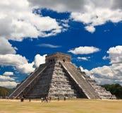 Les temples de chichen le temple d'itza au Mexique photos libres de droits