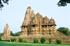 Temples érotiques de l'Inde dans Khajuraho Photographie stock libre de droits