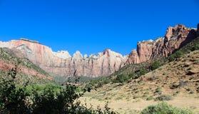 Les temples et les tours de la Vierge, Zion National Park Images libres de droits