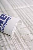 Les temps d'affaires en verticale Images stock