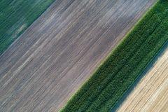 Les terres cultivables tirent de l'air photo stock
