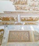 Les thèmes de mer dans les mosaïques antiques images libres de droits