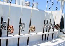 Les tiges de rotation sont un montage sur le bateau Photos libres de droits