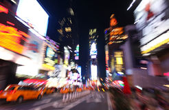 Les Times Square la nuit photo stock