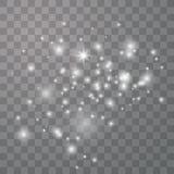 Les ?tincelles blanches scintillent lumi?re sp?ciale illustration libre de droits