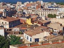 Les toits de Gerona, Espagne image stock