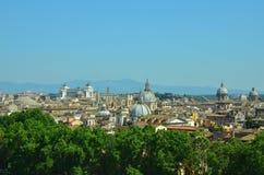 Les toits de Rome Images libres de droits