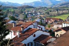 Les toits du village de Saint-Jean-Pie-De-Port Photos libres de droits