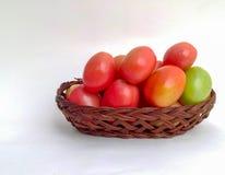 les tomates acidifient agréable au goût rouge Image libre de droits