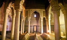 Les tombeaux de Saadian à Marrakech Images libres de droits
