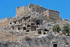 Les tombes de pierre de Tlos en Turquie photos stock