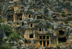 Les tombes de roche de Myra Images stock