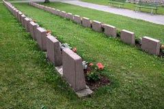 Les tombes des soldats photographie stock