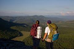 Les touristes découvrent Photo libre de droits