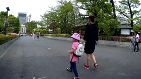 Les touristes et les gens du pays font des emplettes dans la rue du marché d'Ameyoko banque de vidéos