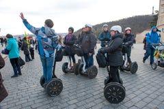 Les touristes visitent les vues Image stock