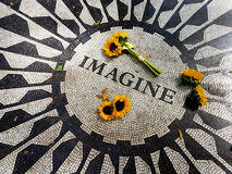 Les tournesols au Central Park imaginent la mosaïque - New York, Etats-Unis Photo libre de droits