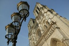 Les Tours de Notre-Dame de Paris Stock Photos