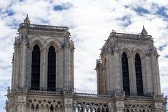 Les tours de Notre Dame, Paris Photo libre de droits