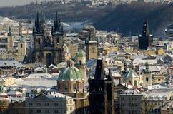 Les tours de Prague Photographie stock libre de droits
