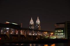 Les Tours jumelles de Dubaï Photo libre de droits
