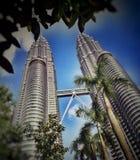 Les Tours jumelles de Petronas images libres de droits