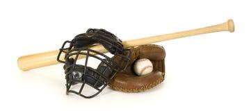 Les trains du gant de baseball de base-ball Images libres de droits
