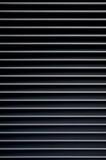 Les traits horizontaux se ferment vers le haut de la rayure blanche et noire Image stock