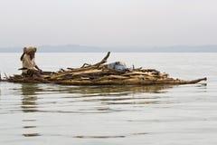Les transports indigènes éthiopiens ouvre une session le lac Tana Images libres de droits