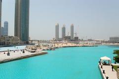 Les travaux civils à Dubaï du centre Photographie stock