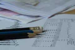 Les travaux de comptable Photos libres de droits