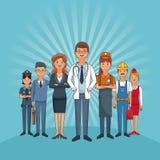 Les travaux et professions Illustration Libre de Droits