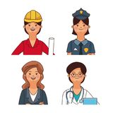 Les travaux et professions Illustration Stock