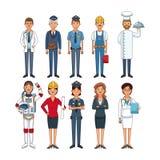 Les travaux et professions Illustration de Vecteur
