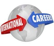 Les travaux internationaux d'employeur d'affaires globales de carrières Images libres de droits