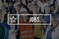 Les travaux louant le concept d'emploi de carrières d'emploi images libres de droits