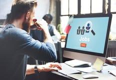 Les travaux louant le concept de carrières de travail de recrutement de profession photos libres de droits