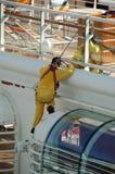 Les travaux ont offert par le bateau de croisière et les industries marines Photo libre de droits