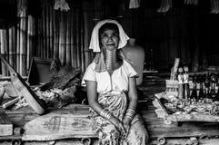 Les tribus BW 1 de Karen Hill de portraits photographie stock libre de droits