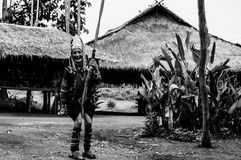 Les tribus BW 5 de Karen Hill de portraits image libre de droits