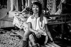 Les tribus BW 7 de Karen Hill de portraits photographie stock libre de droits