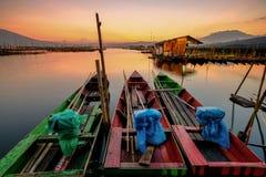 Les trois bateaux images libres de droits