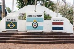 Les trois frontières Photo stock