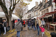 Les Trois Glorieuses de Bourgogne Three Glorious Daysin Beaune. Beaune, France-November 19, 2016:this is the most famous of Burgundy's wine Festivals. Always Royalty Free Stock Image