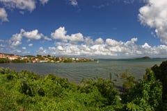 Les Trois Ilets - Caraïbisch dorp - Martinique stock afbeelding