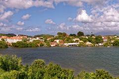 Les Trois Ilets - Caraïbisch dorp - Martinique stock foto's