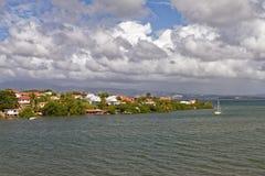Les Trois Ilets - Caraïbisch dorp - Martinique royalty-vrije stock afbeelding