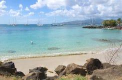 Les Trois Ilets - Fort-de-France - la Martinica - isola tropicale del mar dei Caraibi Immagini Stock Libere da Diritti