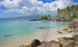 Les Trois Ilets - Fort-de-France - Martinique - Tropisch eiland van Caraïbische overzees Stock Foto